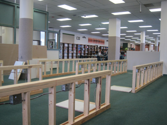 A new computer lab in under construction in the CMR Media Center.