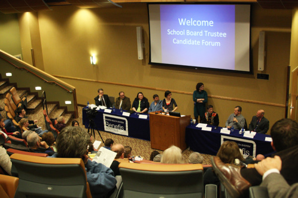 CMR+junior+Katie+Hodges+moderates+the+School+Board+Candidate+Forum+April+19+at+Benefis+Healthcare.