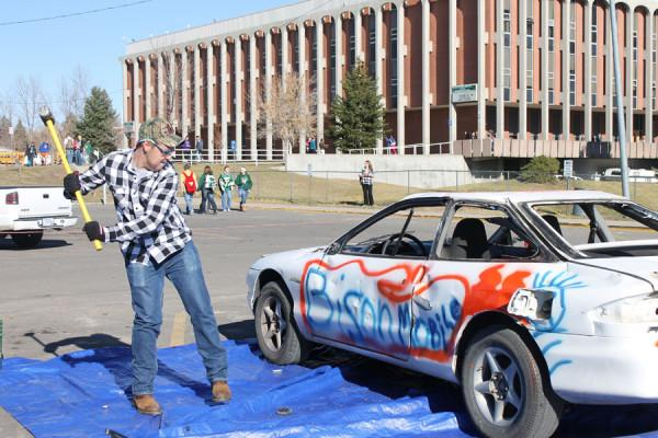 RUSTLERS+SMASH+CAR+IN+THE+NAME+OF+FUNDRAISING