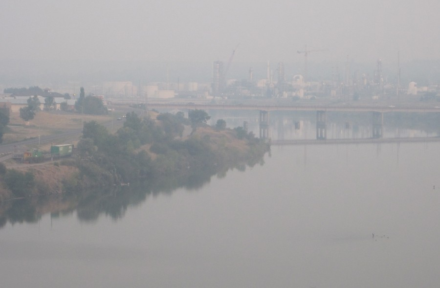 Smoke+obscures+the+view+along+the+Missouri+River+on+Aug.+28+in+Great+Falls.