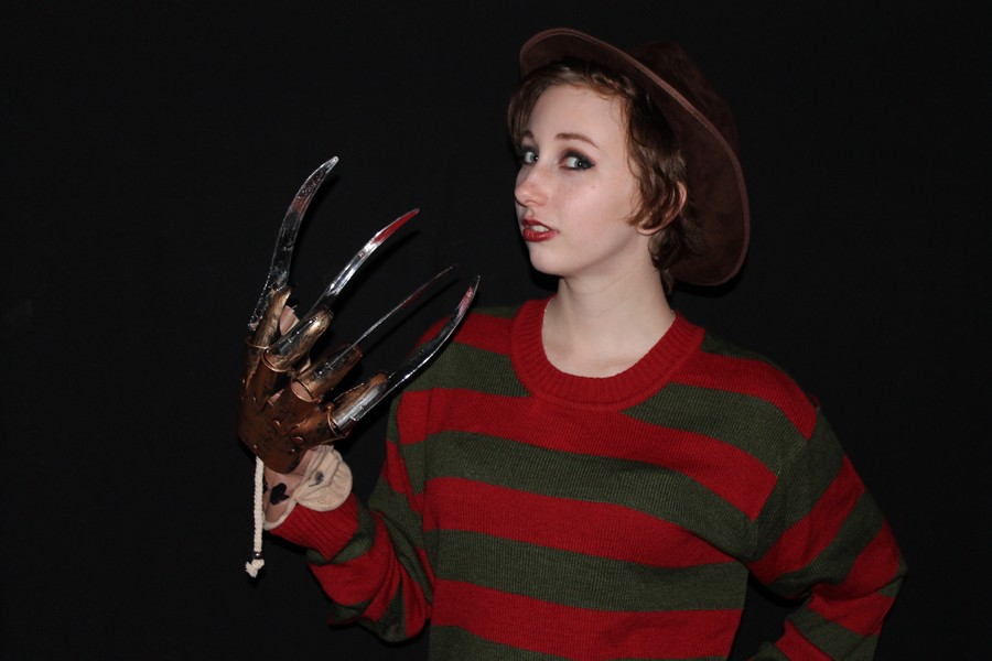Senior Christina Brennan lets the Freddy in her come out on Oct. 30 at CMR.