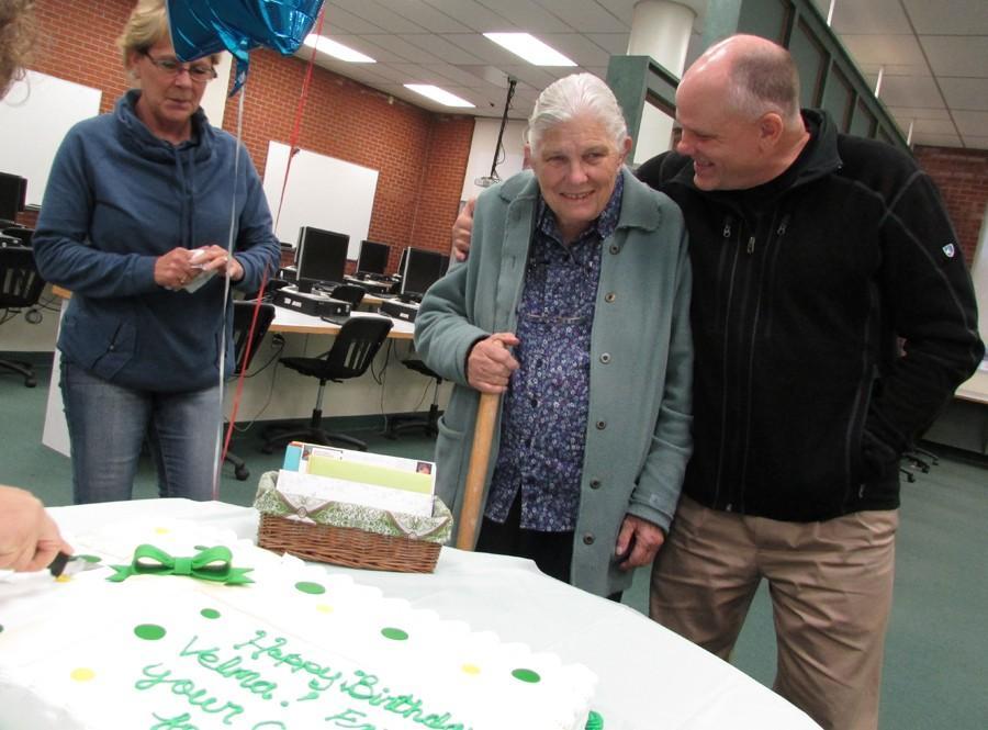 Longtime CMR teacher Velma Jordan celebrates her birthday Nov. 3 in the media center.