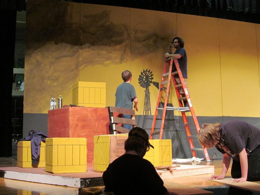 CMR Stagecraft gets some artistic help from past graduate Antonio Tanguma