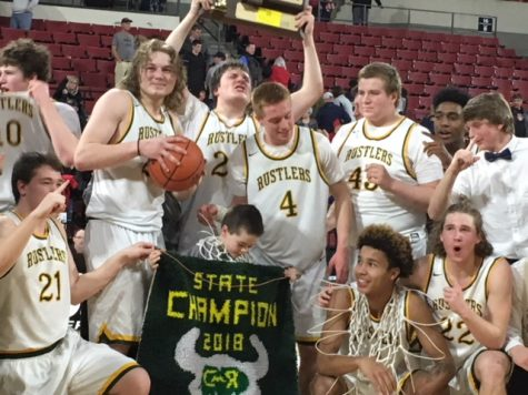 The CMR boys brought home the state basketball title in March 2018.