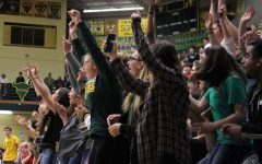Students celebrate at crosstown pep assembly