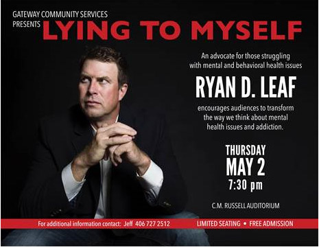 Ryan Leaf to speak at CMR on May 2