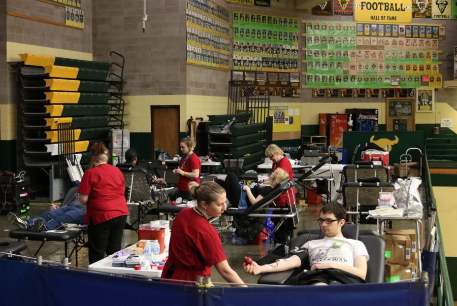 Rustlers help Red Cross at spring blood drive