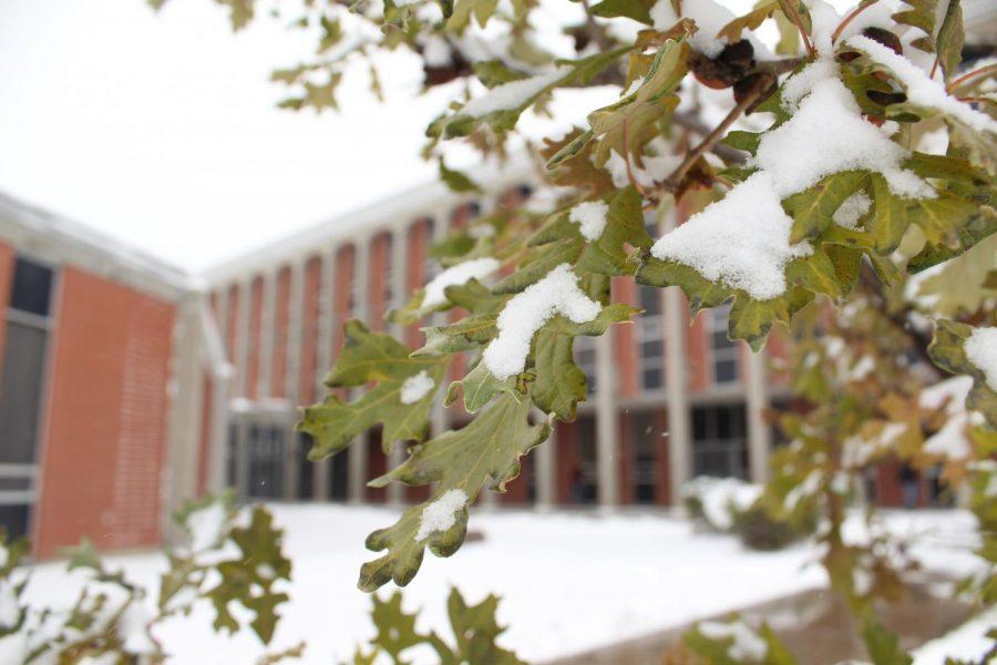 Snow encompasses CMR campus