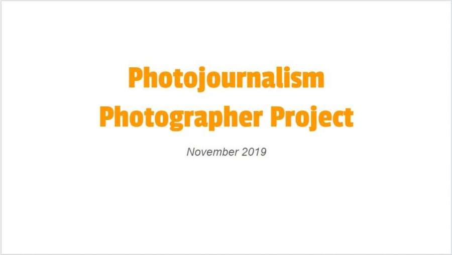 Students recreate the art of photographers