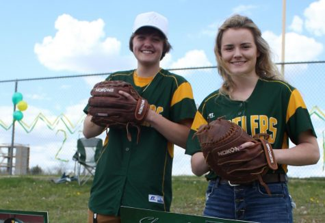 Senior softball players celebrate high school careers