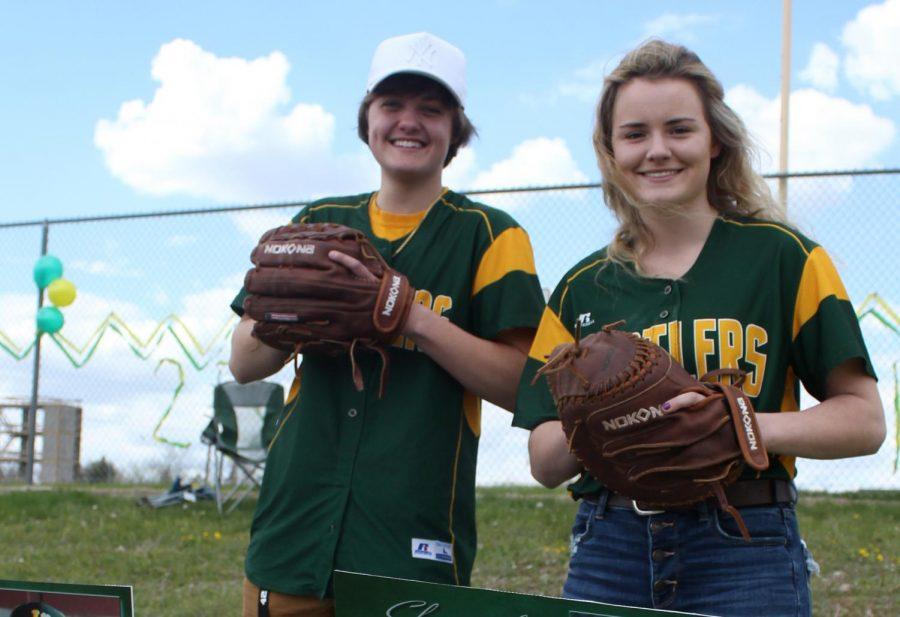 Senior softball players celebrate high school careers