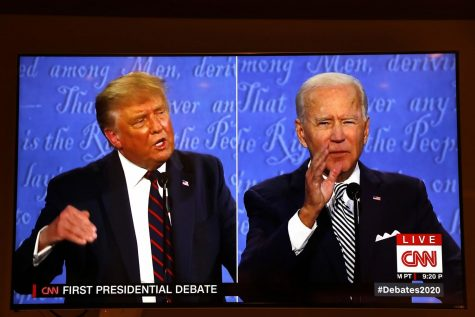 President Donald Trump and Democratic presidential nominee Joe Biden participate in the first presidential debate at the Health Education Campus of Case Western Reserve University, on Tuesday, Sept. 29, 2020, in Cleveland. Yuri Gripas/Abaca Press/TNS)