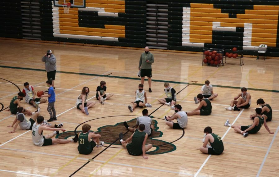Boys Basketball preps for Skyview and senior night