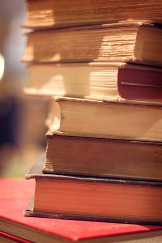 """Photo, """"book stack"""" by ginnerobot, Courtesy of Creative Commons"""